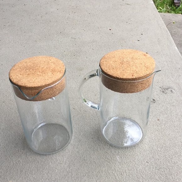 LAST DAY IKEA glass pitcher carafe cork lid